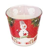 Свеча Adpal Happy holidays высота 7 см, диаметр 8 см аромат ванили