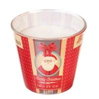 Свеча Adpal Happy new year высота 7 см, диаметр 8 см аромат цитрусового печенья