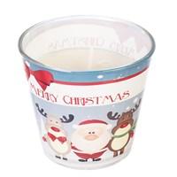 Свеча Adpal Merry Christmas высота 7 см, диаметр 8 см аромат шоколада и апельсина