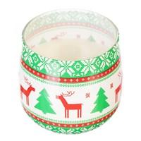 Свеча Adpal Sweet Christmas высота 7 см, диаметр 8 см цветочный аромат