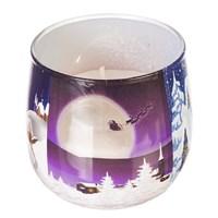 Свеча Adpal Зимний пейзаж высота 7 см, диаметр 8 см аромат рождественского пирога
