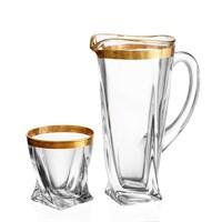 Набор для воды Bohemia Gold Quadro 7 предметов