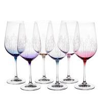 Набор бокалов для вина Crystalex Bohemia Арлекино 550мл (6 шт)