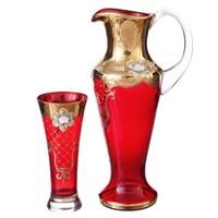 Набор для воды Bohemia Лепка красная 7 предметов