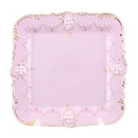Поднос 31 см Соната Мелкие цветы Розовый фарфор