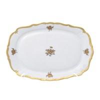 Блюдо квадратное Queen's Crown Золотая роза 21 см