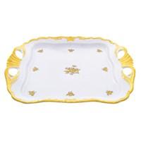 Блюдо квадратное Queen's Crown Золотая роза 30 см