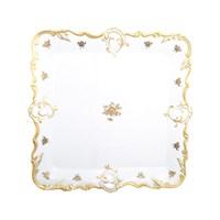 Блюдо квадратное Queen's Crown Золотая роза 32x32 см