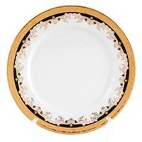 Набор тарелок Thun Кристина Черная Лилия 25см (6 шт)