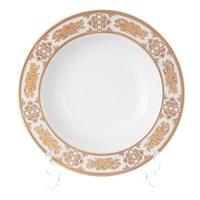 Набор глубоких тарелок 23 см Луиза Золотая роза (6 шт)