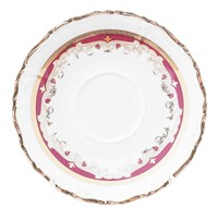 Набор блюдец 15 см Мария Луиза Красная лилия (6 шт)