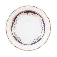 Набор блюдец 15 см Мария Луиза Синяя лилия (6 пар)