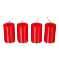 Набор свечей Adpal Red (4 шт) 7/4 см лакированный красный