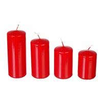 Набор свечей Adpal Red mix (4 шт) 7,8,10,12/5 см лакированный красный