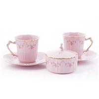 Набор для чая Leander Соната Мелкие цветы Розовый фарфор 6  предметов