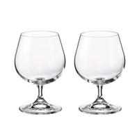 Набор бокалов для бренди Crystalite Bohemia Sylvia/Klara 400 мл (2 шт)
