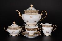 Чайный сервиз на 6 персон 17 предметов Мария Луиза Лист Бежевый
