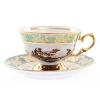 Набор чайных пар Зеленая охота (6 пар)