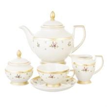 Чайный сервиз на 6 персон Falkenporzellan Constanza - Primavera Gold 15 предметов