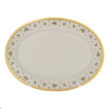Блюдо овальное 36 см Falkenporzellan Constanza cream - Primavera Gold