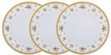 Набор глубоких тарелок 23 см Falkenporzellan Constanza cream - Primavera Gold