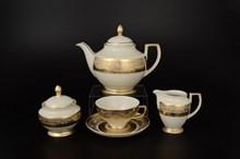 Чайный сервиз на 6 персон Falkenporzellan Cream Gold 17 предметов