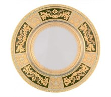 Тарелка Falkenporzellan Diadem Green Mint Gold 21см(1 шт)