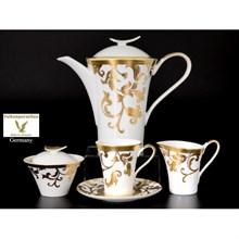 Чайный сервиз на 6 персон 17 предметов Tosca White Gold