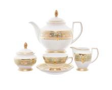 Чайный сервиз Falkenporzellan Donna Seladon gold 6 персон 15 предметов