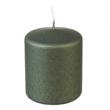 Свеча классическая Adpal 7/5,8 см металлик оливковый