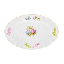 Блюдо овальное Bernadotte Весенние цветы 26см