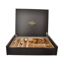 Набор столовых приборов Brignani Spring Full Gold 24 предмета