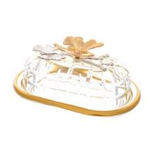 Масленка Zes Dekor Бабочки Butterflies Amber