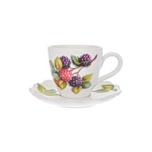 Набор чашка с блюдцем NUOVA CER Лесные ягоды 2 предмета 250 мл