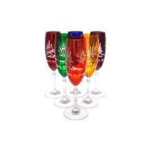 Набор фужеров для шампанского Цветной хрусталь160 мл (6 шт)