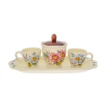 Кофейный набор на подносе NUOVA CER Лепестки Весны 5 предметов