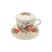 Набор чашка с блюдцем NUOVA CER Гранат 4 предмета