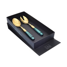 Набор столовых приборов для салата Domus Victoria gold 2 предмета
