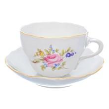 Набор чайных пар Dubi Цветочный мотив (6 пар) 350мл