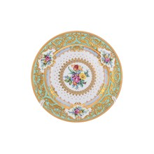 Набор тарелок Falkenporzellan Premium Opal Seladon Gold 21 см (6 шт)