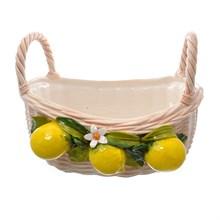 Корзина овальная с 2 ручками Orgia Лимоны 38 см
