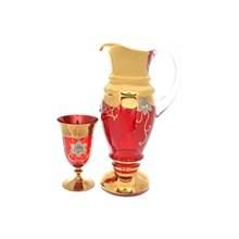 Набор для воды красный Bohemia Uhlir 5 предметов 200мл/1,8л.