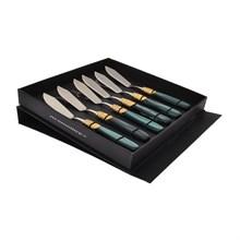 Набор столовых ножей для рыбы domus victoria gold (6 шт)