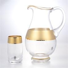 Набор 7 предметов графин и стаканы Матовая полоса AS Crystal