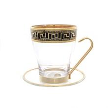 Набор чайных пар Art Decor Versac Gold Black 12 предметов 220мл