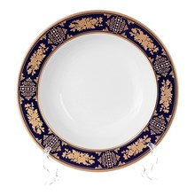 Набор глубоких тарелок 23 см Луиза Золотая роза Кобальт (6 шт)