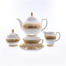 Чайный сервиз Falkenporzellan Arabesque Seladon Gold 6 персон 17 предметов