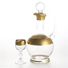 Набор для ликера Bohemia Gold Матовая полоса  7 предметов