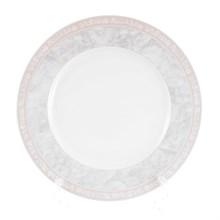 Набор тарелок Thun Яна Серый мрамор с розовым кантом 26см(6 шт)