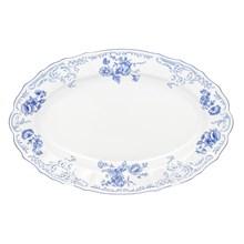 Блюдо овальное Bernadotte Синие розы 36 см